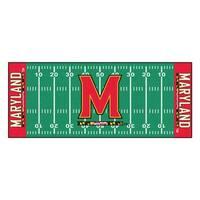 Fanmats Machine-made University of Maryland Green Nylon Football Field Runner (2'5 x 6')