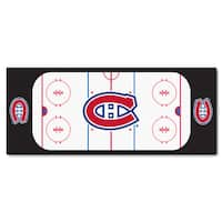 Fanmats Machine-made Montreal Canadiens White Nylon Rink Runner (2'5 x 6')