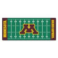 Fanmats Machine-made University of Minnesota Green Nylon Football Field Runner (2'5 x 6')