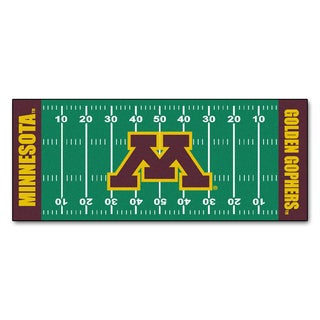 Fanmats Machine-made University of Minnesota Green Nylon Football Field Runner (2'5 x 6')