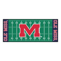 Fanmats Machine-made University of Mississippi Green Nylon Football Field Runner (2'5 x 6')