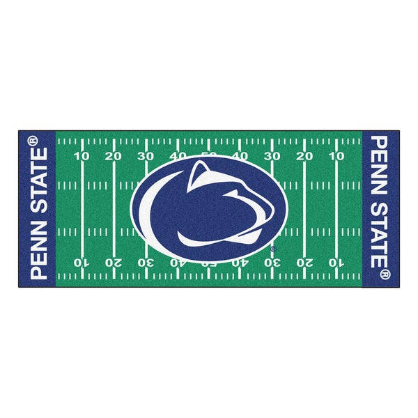 Fanmats Machine-made Penn State Green Nylon Football Field Runner (2'5 x 6')