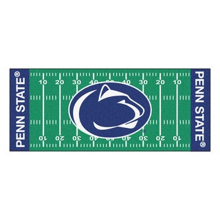 Fanmats Machine-made Penn State Green Nylon Football Field Runner (2'5 x 6')