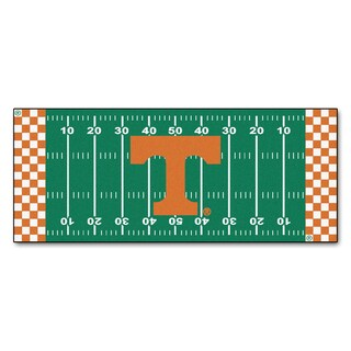 Fanmats Machine-made University of Tennessee Green Nylon Football Field Runner (2'5 x 6')