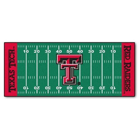 Fanmats Machine-made Texas Tech University Green Nylon Football Field Runner (2'5 x 6')