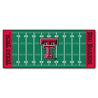 Fanmats Machine-made Texas Tech University Green Nylon Football Field Runner (2'5 x 6')|https://ak1.ostkcdn.com/images/products/10119472/P17258168.jpg?impolicy=medium