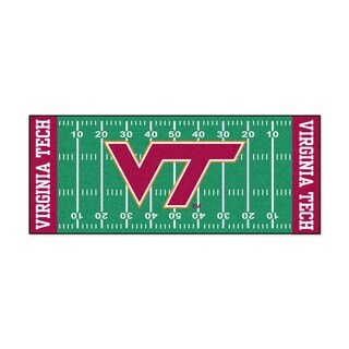 Fanmats Machine-made Virginia Tech Green Nylon Football Field Runner (2'5 x 6')