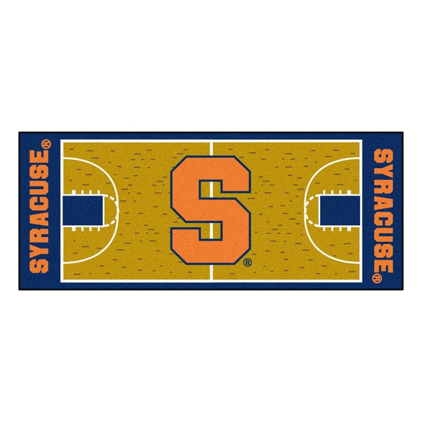 Fanmats Machine-made Syracuse University Gold Nylon Basketball Court Runner (2'5 x 6')
