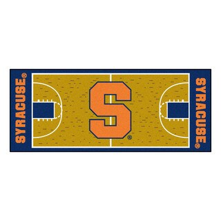 Fanmats Machine-made Syracuse University Gold Nylon Basketball Court Runner (2'5 x 6')