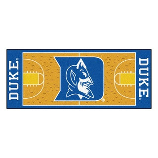 Fanmats Machine-made Duke University Gold Nylon Basketball Court Runner (2'5 x 6')