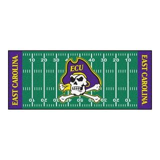 Fanmats Machine-made East Carolina University Green Nylon Football Field Runner (2'5 x 6')