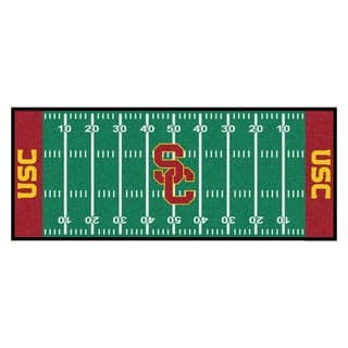 Fanmats Machine-made University of Southern California Green Nylon Football Field Runner (2'5 x 6')|https://ak1.ostkcdn.com/images/products/10119516/P17258252.jpg?impolicy=medium