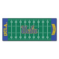 Fanmats Machine-made UCLA Green Nylon Football Field Runner (2'5 x 6')