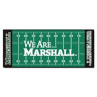 Fanmats Machine-made Marshall University Green Nylon Football Field Runner (2'5 x 6')