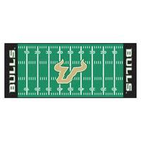 Fanmats Machine-made University of South Florida Green Nylon Football Field Runner (2'5 x 6')