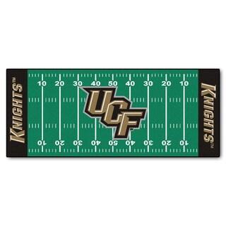 Fanmats Machine-made University of Central Florida Green Nylon Football Field Runner (2'5 x 6')