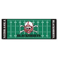 Fanmats Machine-made University of Nebraska Blackshirts Green Nylon Football Field Runner (2'5 x 6')