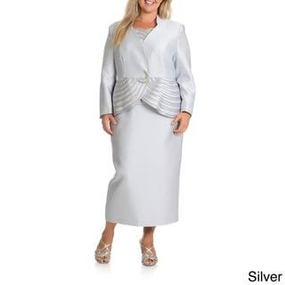 Giovanna Collection Women's Plus Size 3-piece Skirt Suit