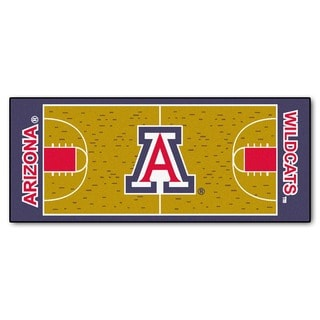 Fanmats Machine-made University of Arizona Gold Nylon Basketball Court Runner (2'5 x 6')