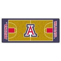 Fanmats Machine-made University of Arizona Gold Nylon Basketball Court Runner (2'5 x 6')