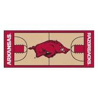 Fanmats Machine-made University of Arkansas Gold Nylon Basketball Court Runner (2'5 x 6')
