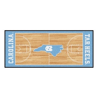 Fanmats Machine-made University of North Carolina Chapel Hill Gold Nylon Basketball Court Runner (2'5 x 6')
