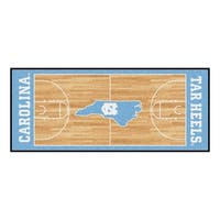 Fanmats Machine-made University of North Carolina Chapel Hill Gold Nylon Basketball Court Runner (2'5 x 6')