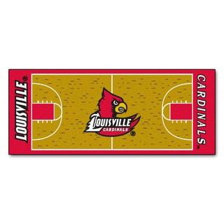Fanmats Machine-made University of Louisville Gold Nylon Basketball Court Runner (2'5 x 6')