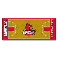 Fanmats Machine-made University of Louisville Gold Nylon Basketball Court Runner (2'5 x 6')