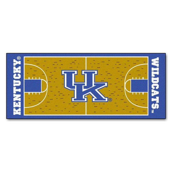 Fanmats Machine-made University of Kentucky Gold Nylon Basketball Court Runner (2'5 x 6')