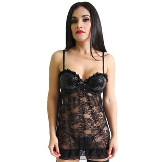 Prestige Biatta Floral Lace Babydoll and G-String Set