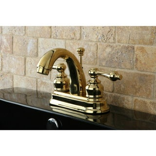 Classic Polished Brass Double-handle Bathroom Faucet