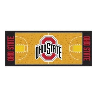 Fanmats Machine-made Ohio State University Gold Nylon Basketball Court Runner (2'5 x 6')