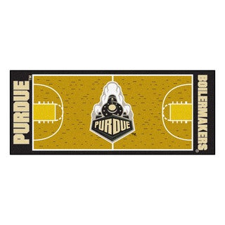 Fanmats Machine-made Purdue University Gold Nylon Basketball Court Runner (2'5 x 6')