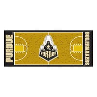 Fanmats Machine-made Purdue University Gold Nylon Basketball Court Runner (2'5 x 6')