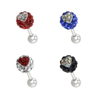 Supreme Jewelry 4-pack Multi-stone Tragus Earrings