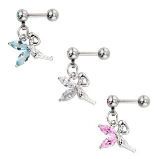 Supreme Jewelry 3-pack Dangling Fairy Tragus Earrings