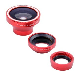 3-in-1 Detachable Fisheye Lens Wide Angle Macro Micro Lens Cellphone Photo Kit Set
