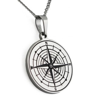 Compass Pendant Inspirational Necklace