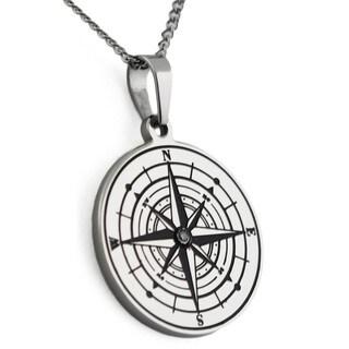 Compass Pendant Inspirational Necklace