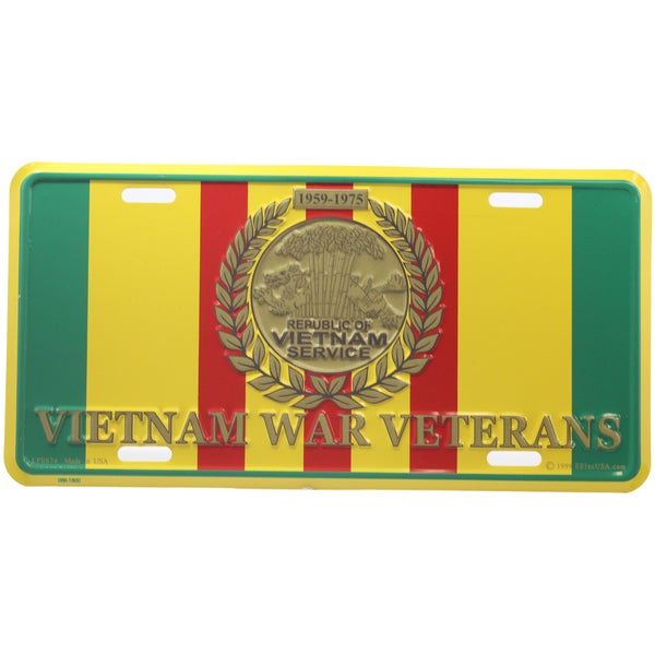 Vietnam War Veterans Logo License Plate