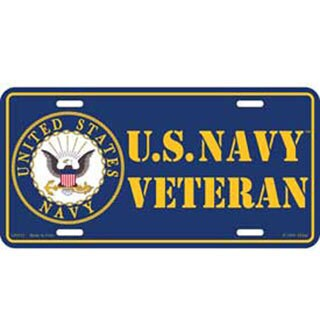 US Navy Veteran Logo License Plate
