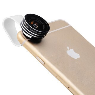 Mpow 3-in-1 Clip-on 180-degree Supreme Fisheye/ 0.67X Wide Angle/ 10X Macro Lens for iOS/ Android Smartphones