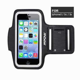 Mpow Running Sport Sweatproof Adjustable Armband Case with Key Holder for iPhone 5/ 5s/ 5c /6