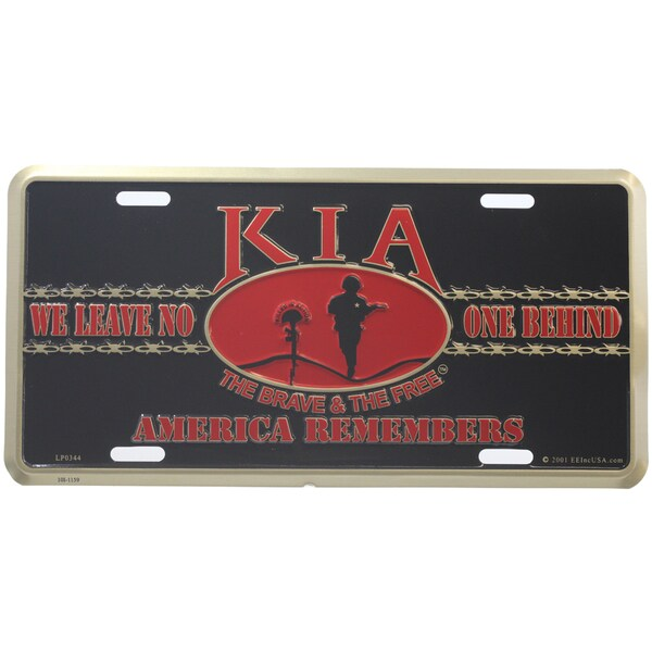 KIA America Remembers License Plate