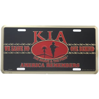 KIA America Remembers License Plate