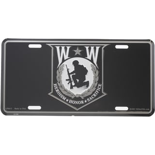 Wounded Warrior Shield License Plate