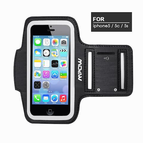 MPOW Running Sport Sweatproof Armband Adjustable Case for iPhone 5/5S/5C, iPod Touch 5