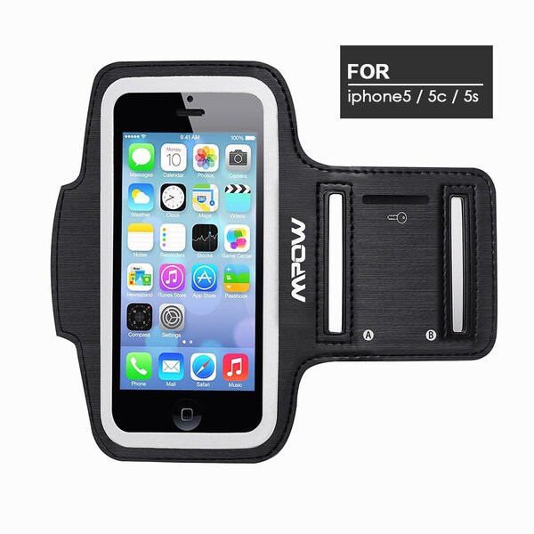 newest 32117 51c14 Shop MPOW Running Sport Sweatproof Armband Adjustable Case for ...