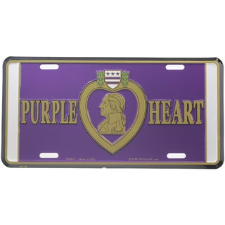 Purple Heart Logo License Plate